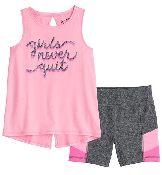 BG-Bộ jumping bean quần đùi, 3 lỗ hồng girl
