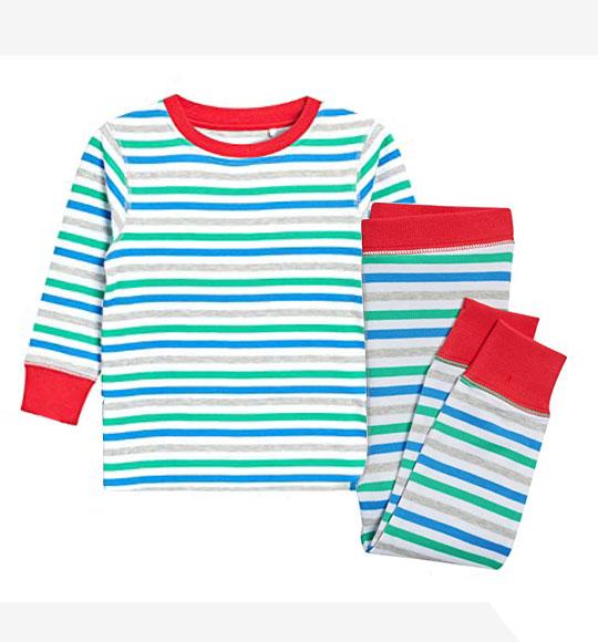 BT-Đồ bộ Sleapwear Next trắng sọc xám xanh