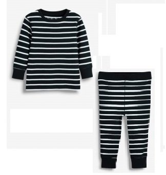 BT-Đồ bộ Sleapwear Next đen sọc trắng