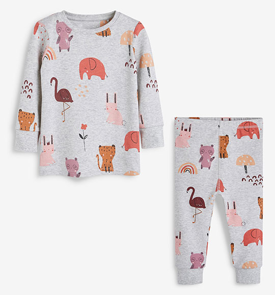 BG-Đồ bộ Sleapwear Next xám thỏ voi