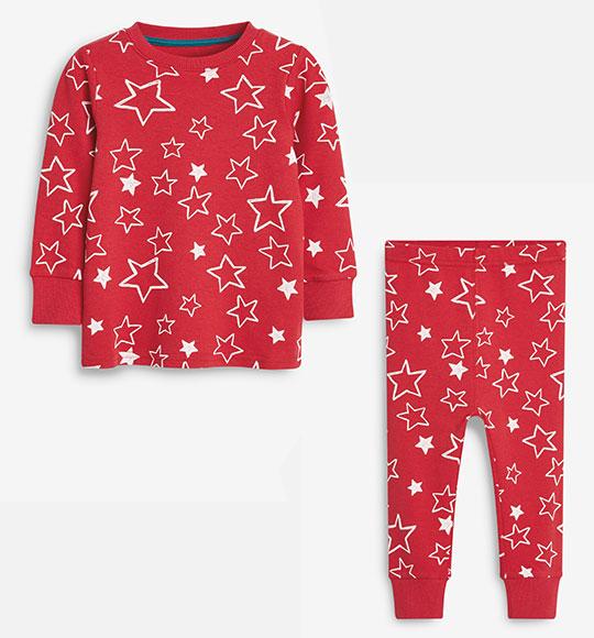 BG-Đồ bộ Sleapwear Next đỏ ngôi sao