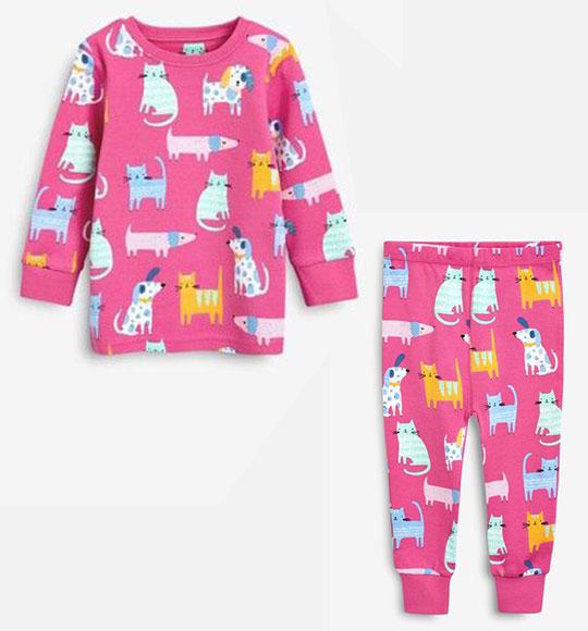 BG-Đồ bộ Sleapwear Next hồng chó mèo