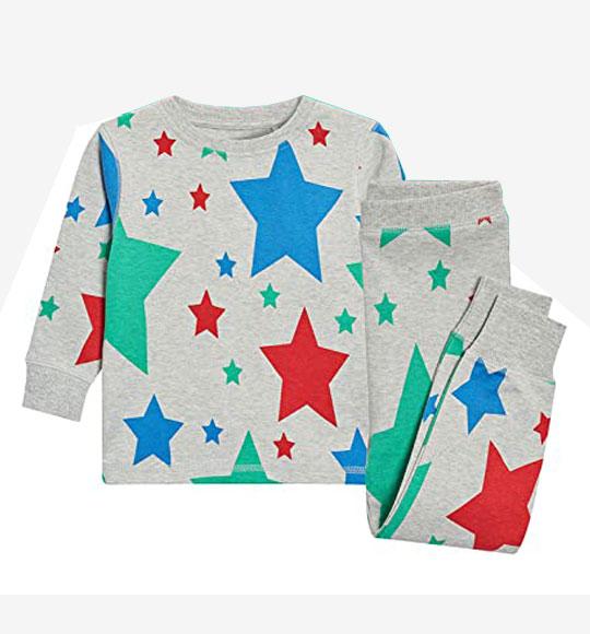 BT-Đồ bộ Sleapwear Next xám ngôi sao màu