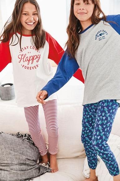 BG-Đồ bộ Sleapwear Next trắng happy tay đỏ