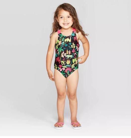 BG-Đồ bơi Cat & Jack hoa lá thú