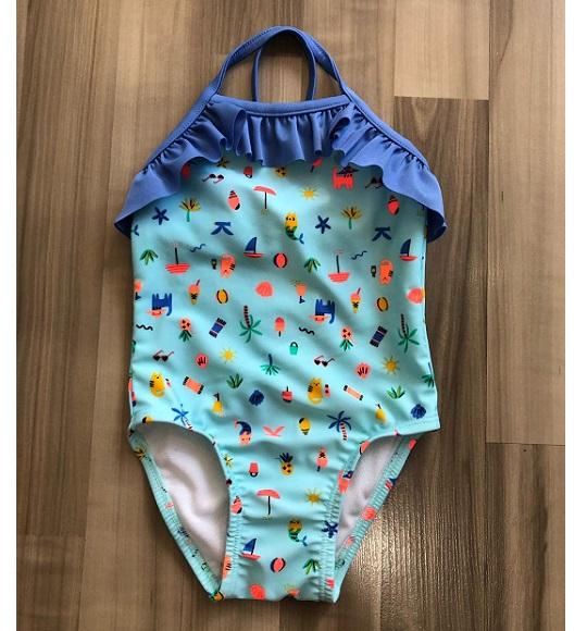 BG-Đồ bơi xanh hình mèo dừa