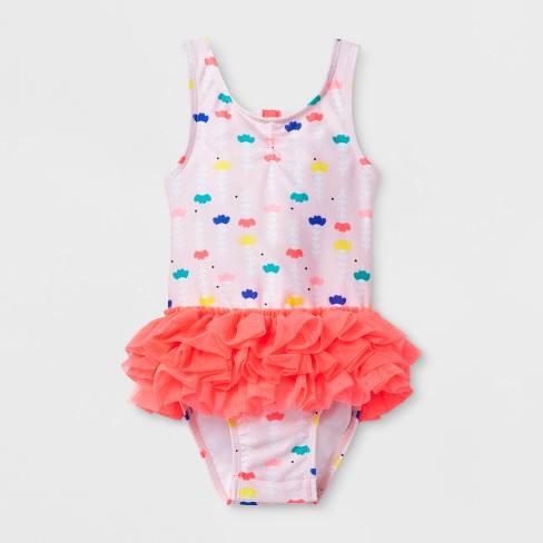 BG-Đồ bơi 1 mảnh hồng cam bèo