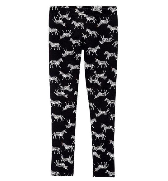 BG-Quần legging Carters đen ngựa vằn