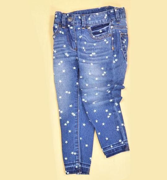 BG-Quần Jean dài Crewcut xanh ngôi sao
