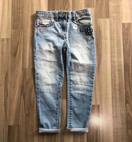 BG-Quần Jean dài Crewcut xanh túi hoa