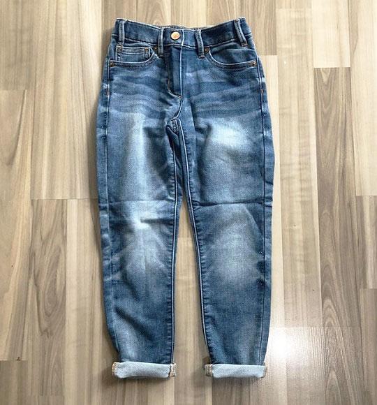 BG-Quần Jean dài Crewcut xanh