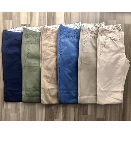 NAM-Quần khaki dài Uniqlo kem đậm