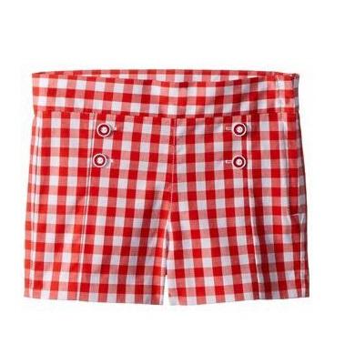 BG-Short Khaki Jannie & Jack caro đỏ trắng
