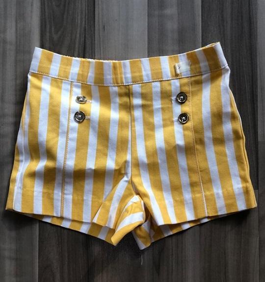 BG-Short Khaki Jannie & Jack sọc trắng vàng