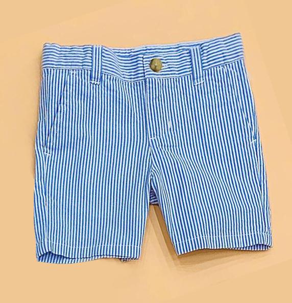BT-Short khaki Janie Jack sọc xanh dương