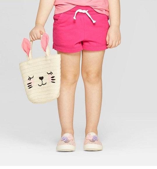 BG-Quần short thun da cá Cat & Jack hồng