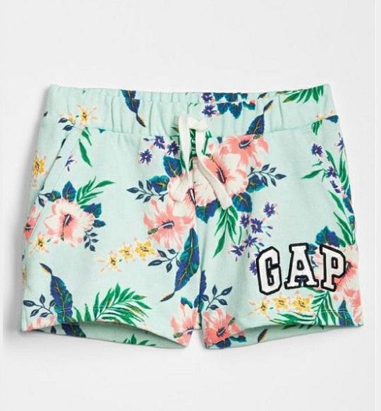 BG-Quần short Gap xanh hoa