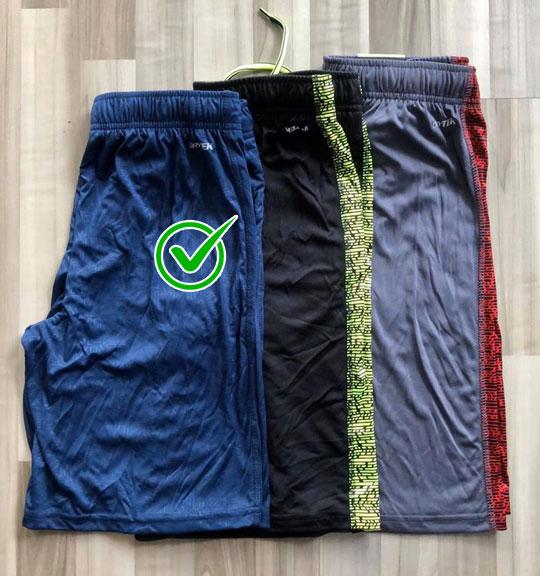 BT-Short thể thao TekGear xanh navy tam giác