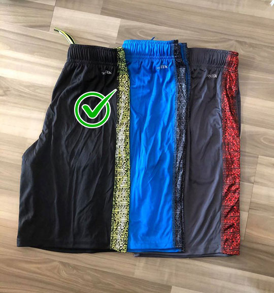 BT-Short thể thao TekGear đen họa tiết nhỏ