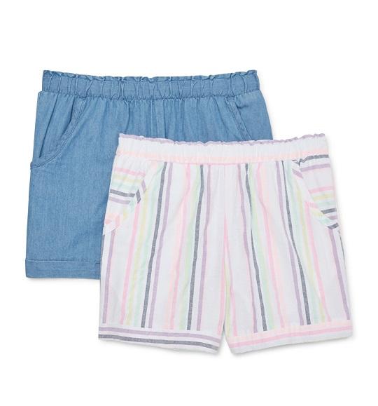 BG-Short vải Wonder Nation trắng sọc màu
