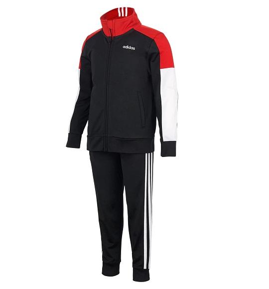 BT-Bộ S2 Adidas đen tay nối đỏ