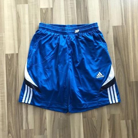 NAM-Short thể thao Adidas xanh viền trắng navy