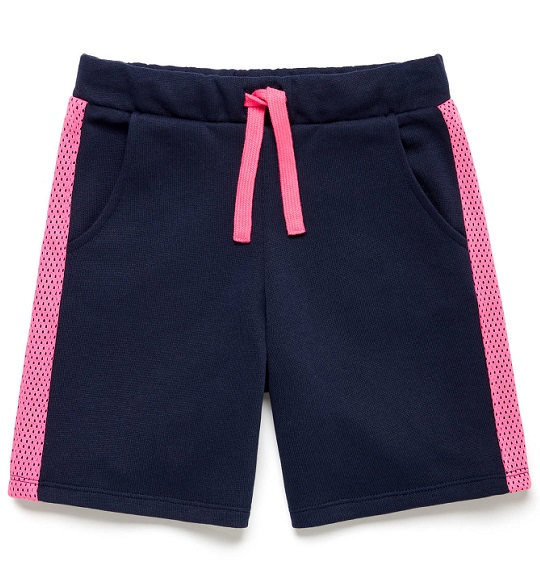 BG-Short da cá Benetton navy viền hồng