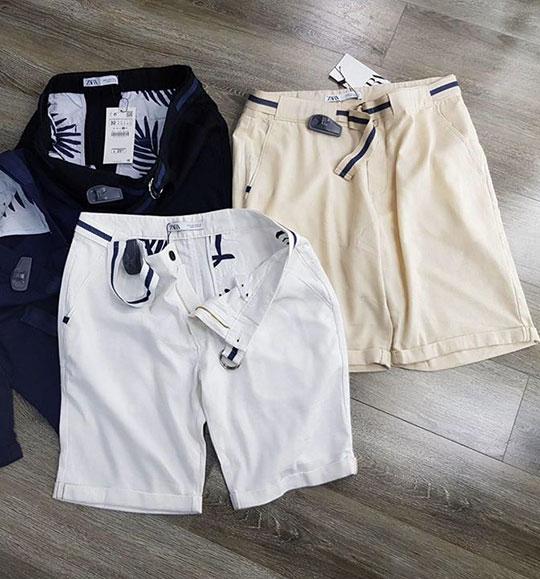 NAM-Quần short Zara trắng