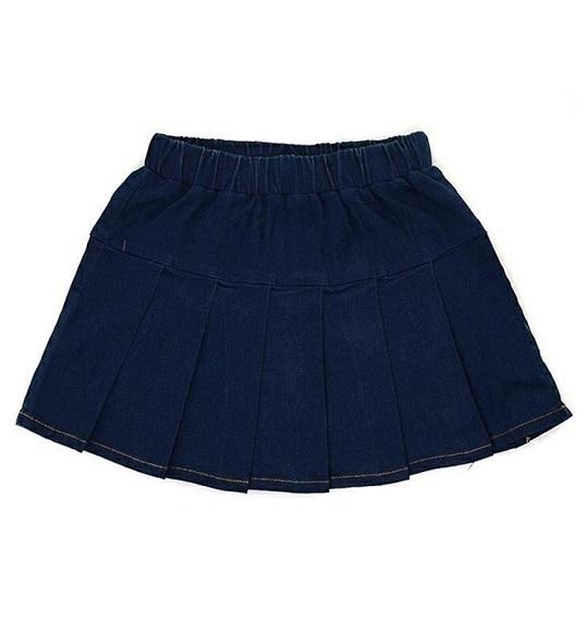 BG-Váy quần Jean navy xếp ly