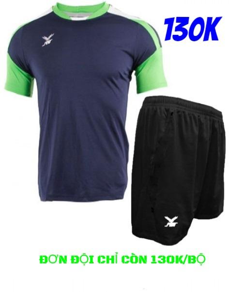 Bộ quần áo đá bóng FBT màu Xanh Navy/xanh lá - giảm giá 40% cho đơn đội
