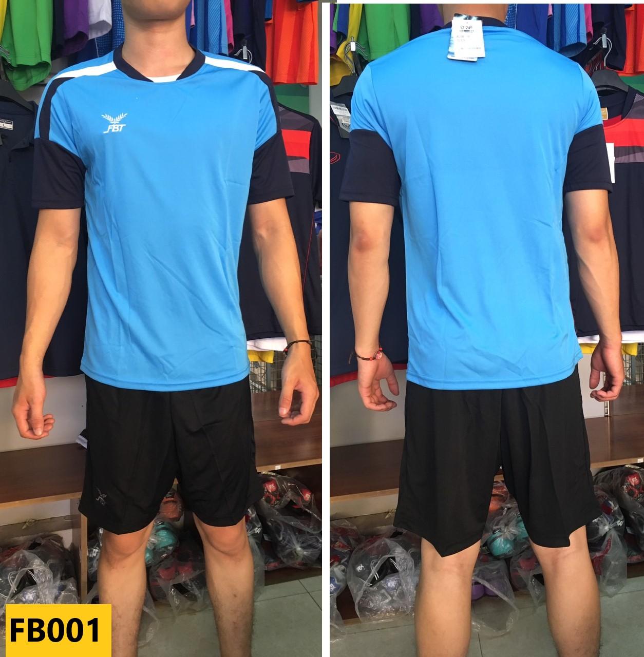Bộ quần áo đá bóng FBT màu xanh dương/xanh navy - giảm giá 40% cho đơn đội