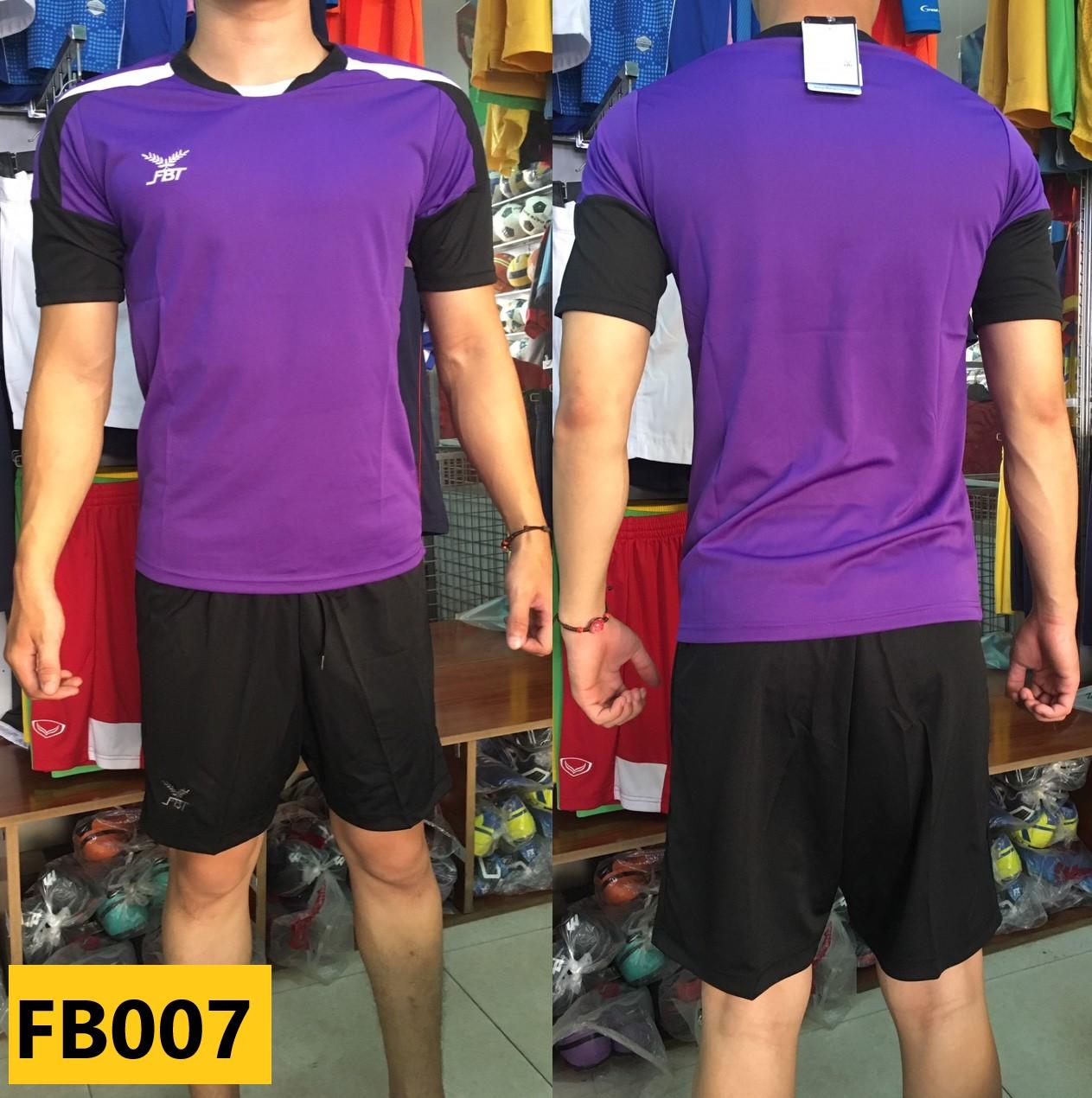 Bộ quần áo bóng đá FBT đẹp phong cách màu Tím/Đen - giá tốt cho đơn đội