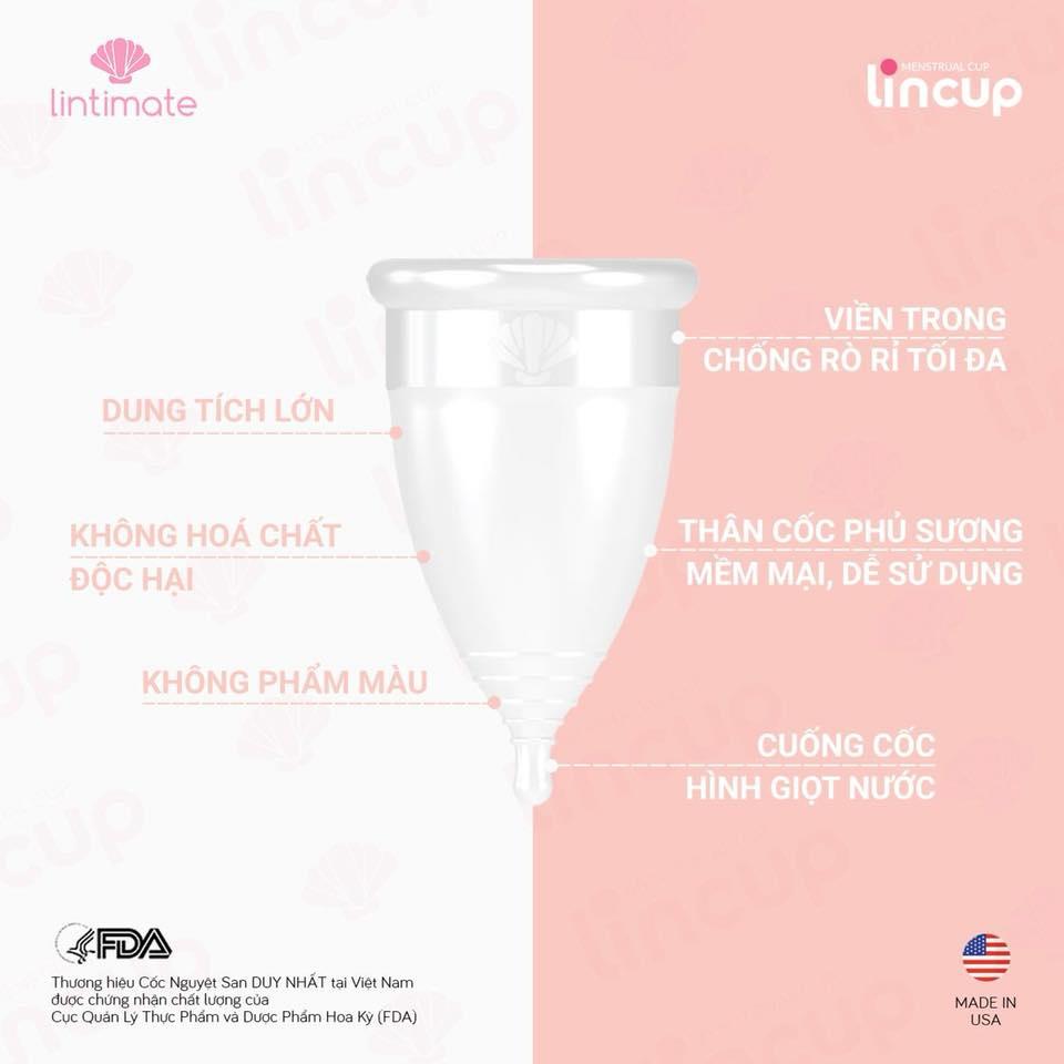 Cốc nguyệt san LinCup được sản xuất từ Mỹ
