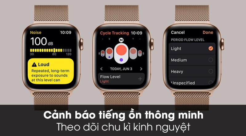 Apple Watch S5 LTE 44mm viền thép dây thép - Chính hãng VN/A