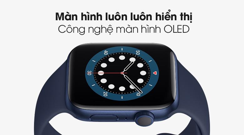 Apple Watch S6 44mm viền nhôm dây cao su - Chính hãng VN/A