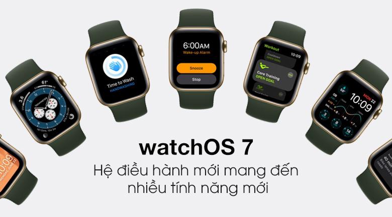 Apple Watch S6 LTE 40mm viền thép dây cao su - Chính hãng VN/A