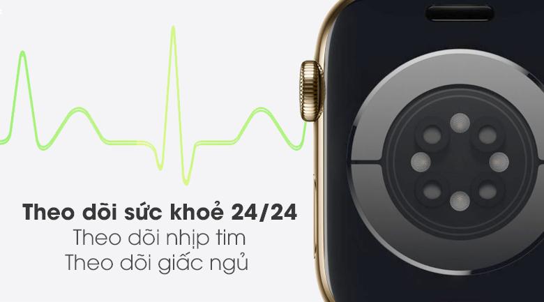 Apple Watch S6 LTE 40mm viền thép dây thép  - Chính hãng VN/A