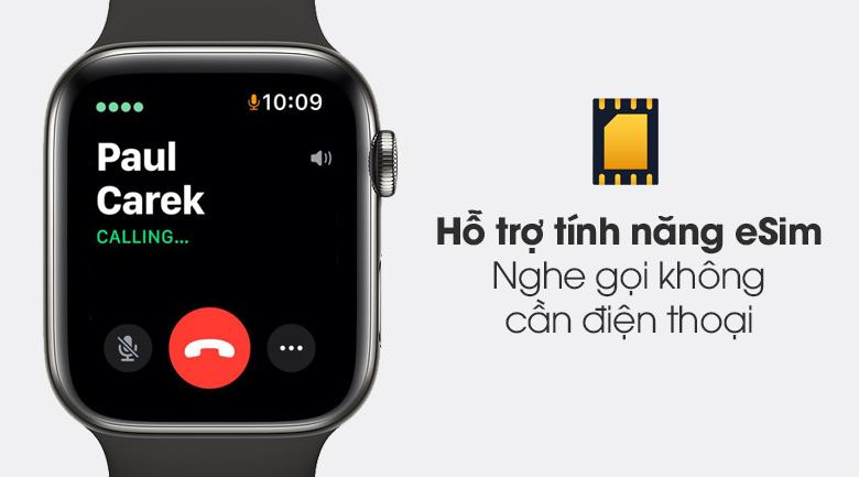 Apple Watch S6 LTE 44mm viền thép dây cao su - Chính hãng VN/A