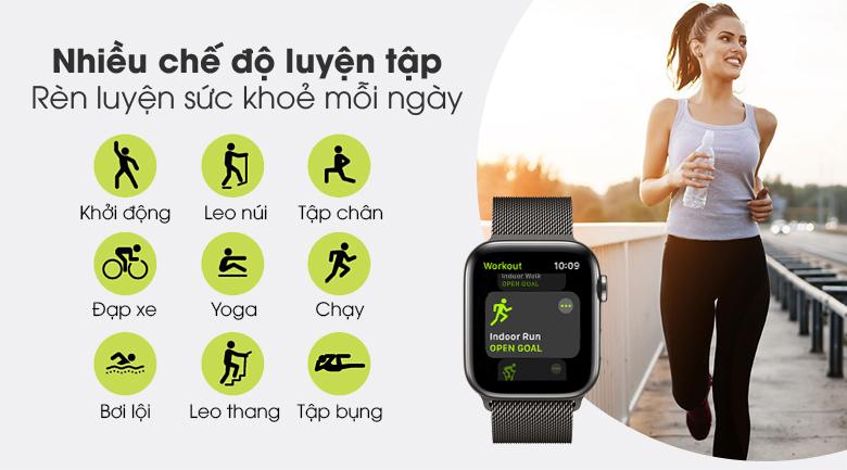 Apple Watch S6 LTE 44mm viền thép dây thép - Chính hãng VN/A