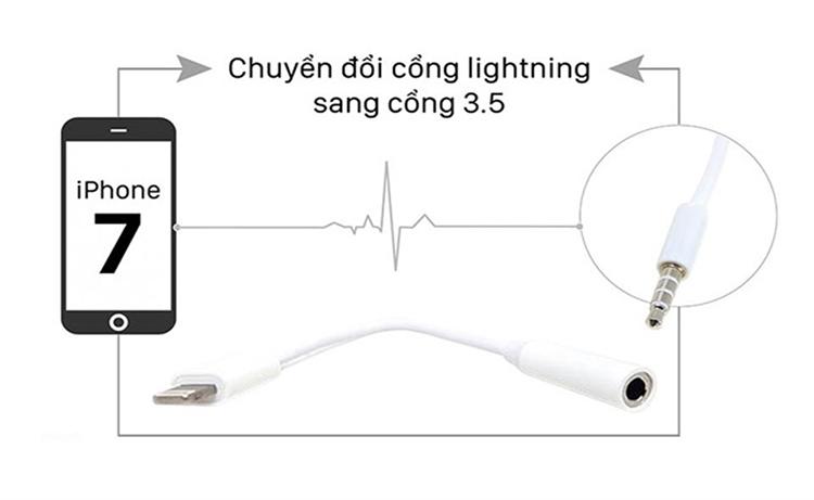 Cáp chuyển đổi Lightning sang 3.5mm Apple MMX62