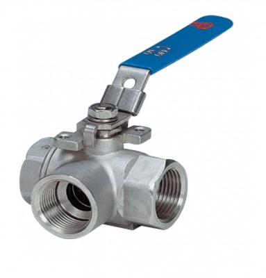 3 Way Reduced Port Threaded Body Ball Valves