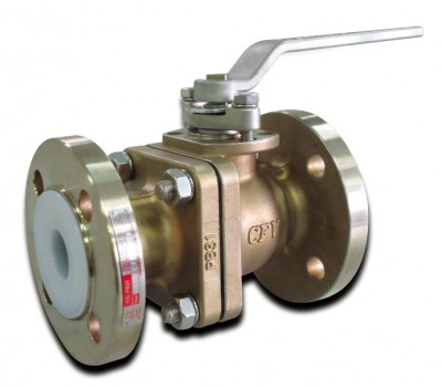 PFA Lined Stainless Steel Ball Valves - PN16
