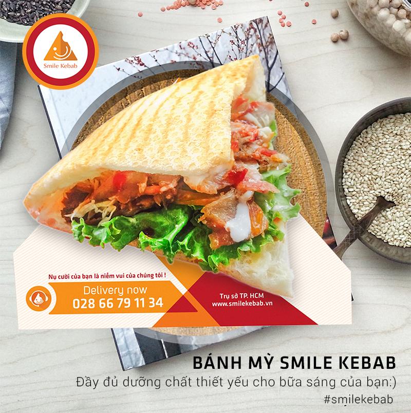 Bánh mỳ Smile Kebab 17.000đ