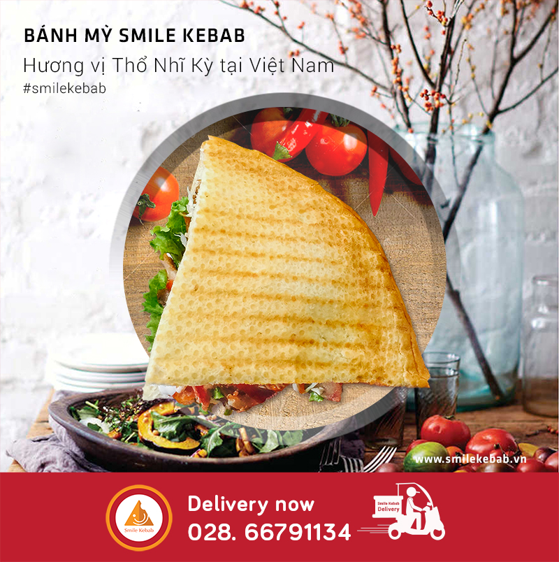 Bánh mỳ Smile Kebab- Order now 028 66791134