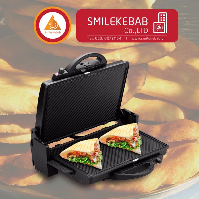 Máy kẹp nướng bánh mỳ Kebab