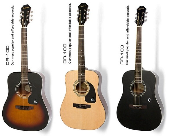 dan guitar acoustic gia re Epiphone DR100