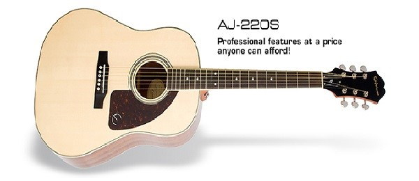 dan guitar acoustic gia re Epiphone AJ-220S