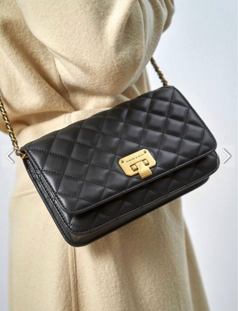 TÚI CH🅰️RLES & KEITH QUIlted clutch