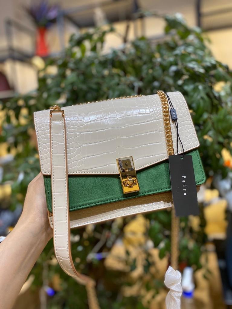TÚI PEDR🅾️ structured flap shoulder bag