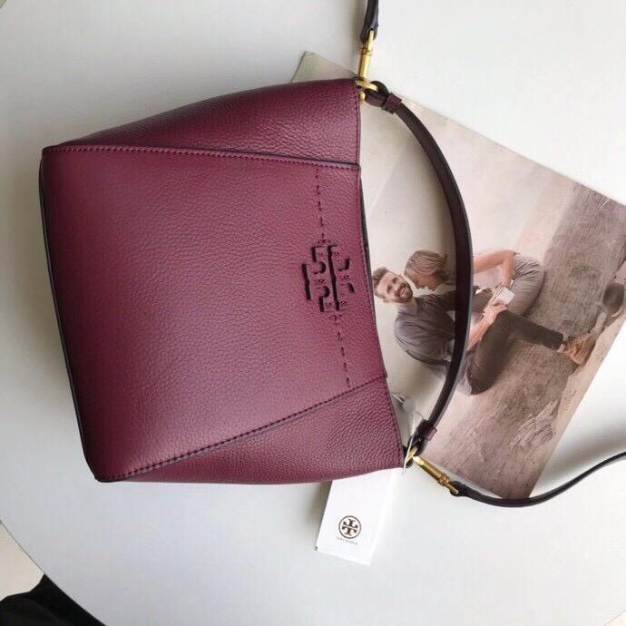TÚI T🅾️RY BURCH MCGRAW SMALL BUCKET BAG